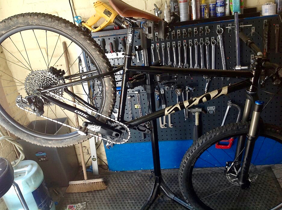 Bike in workstand
